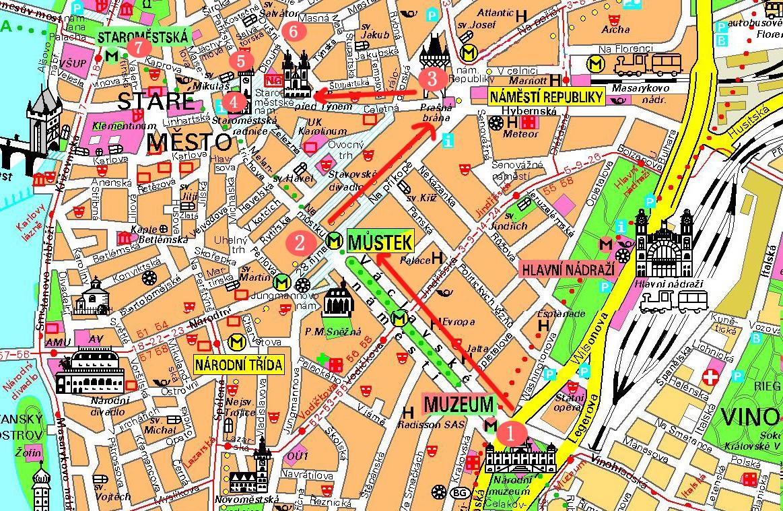 布拉格旅游第二天地图
