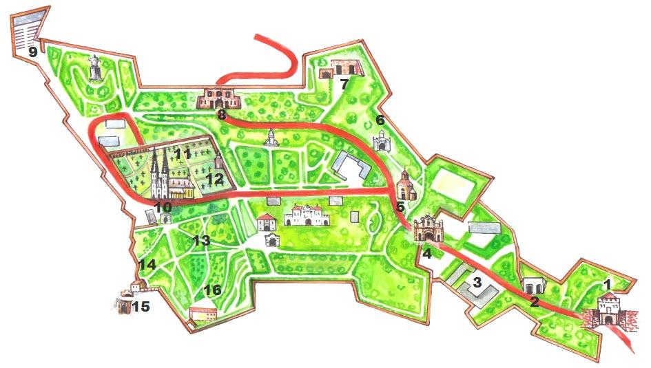 维谢赫拉德城堡景点地图