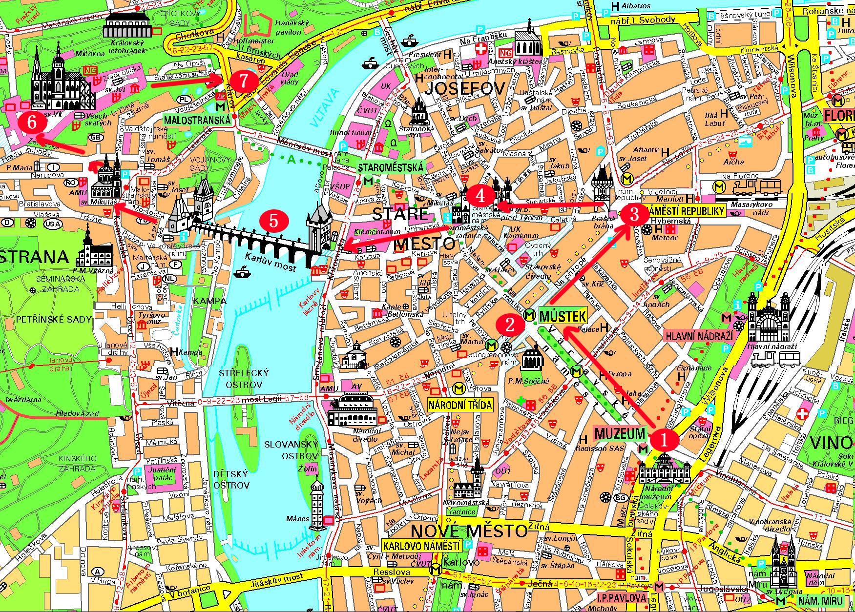 布拉格旅游地图