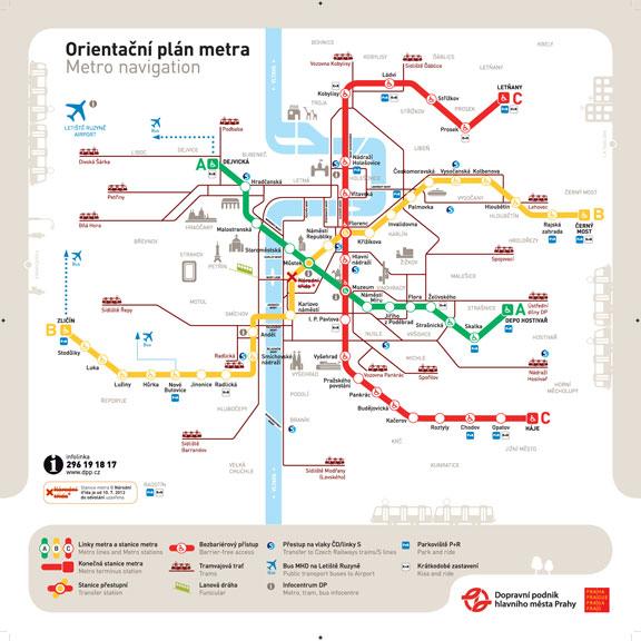 布拉格地铁图