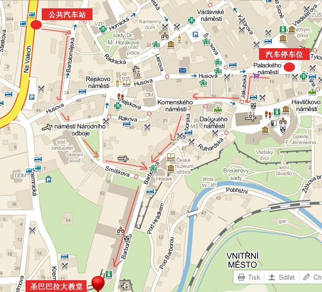 圣巴巴拉大教堂路线地图