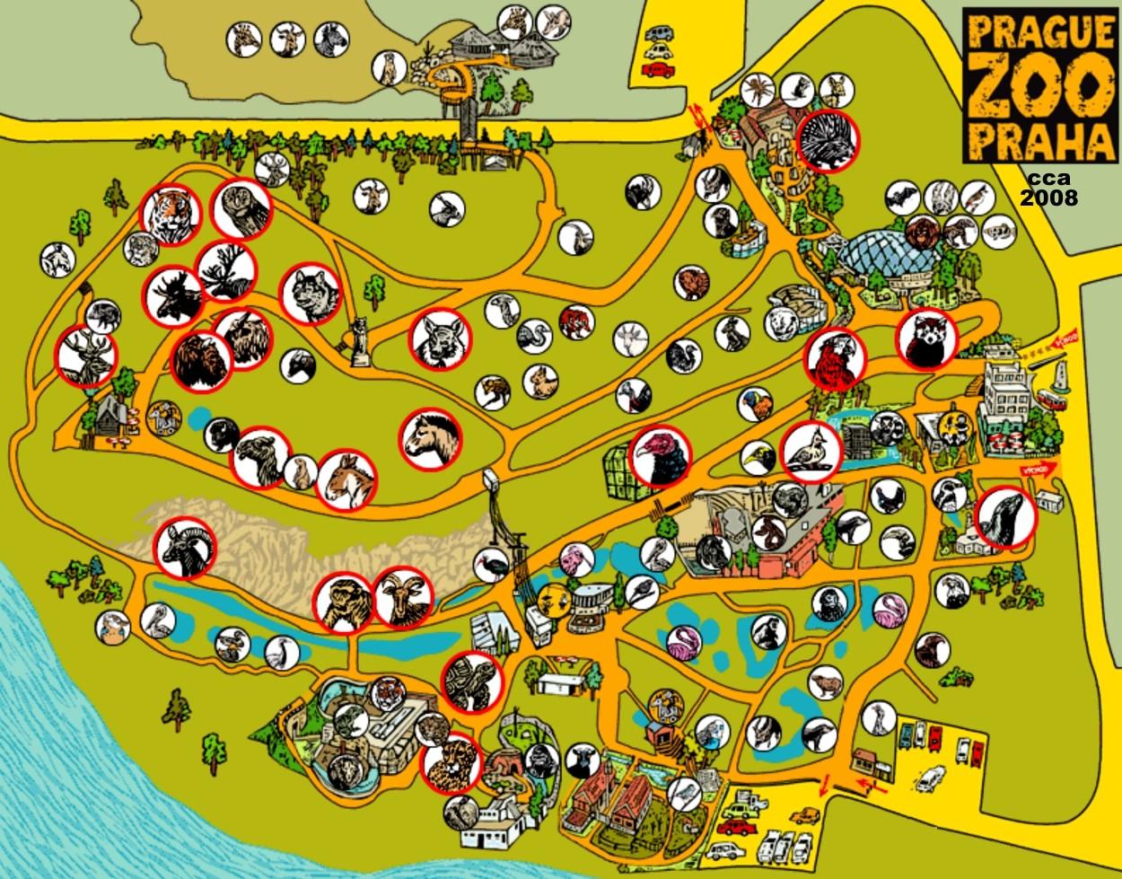 布拉格动物园 地图